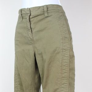 J. Crew sage green seamed motorcycle pant jeans